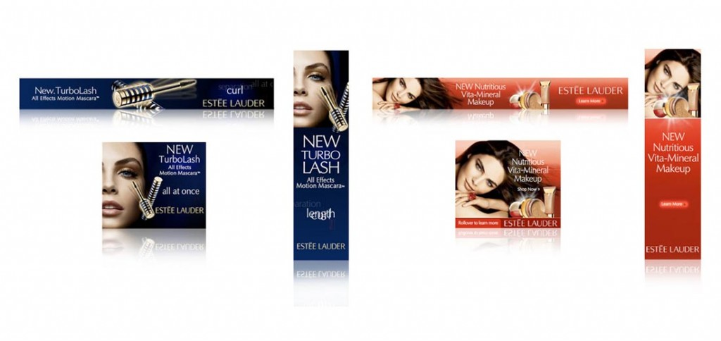 Estee Lauder animated ad banners. (Click image to view on desktop).