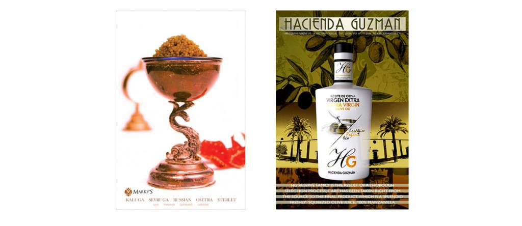 Marky's Gourmet affiliate poster designs, photography.