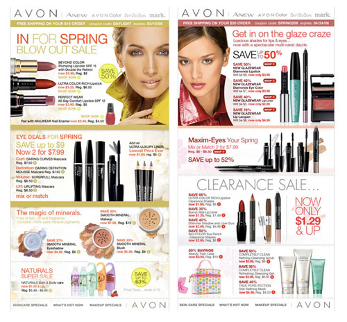 Avon design for emails.