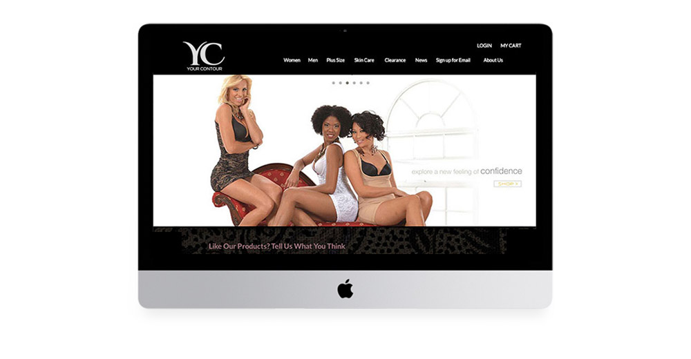 Your Contour website design and photogrpahy art direction.